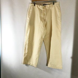 J Crew Broken In Chino Yellow Cotton Flat Front Me